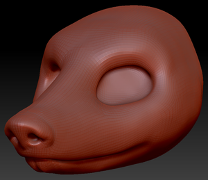 Gender Neutral Armadillo Head Base