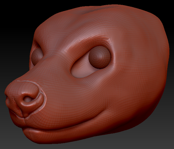 Realistic Hyena Head Base