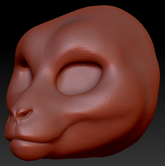Feminine Macaque Head Base