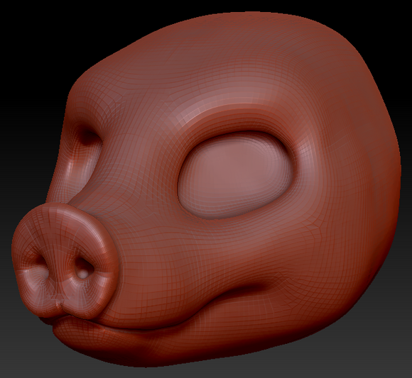 Gender Neutral Pig Head Base