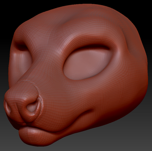 Feminine Tasmanian Devil Head Base