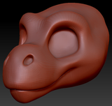 Gender Neutral Toony T-Rex Head Base Variant 1