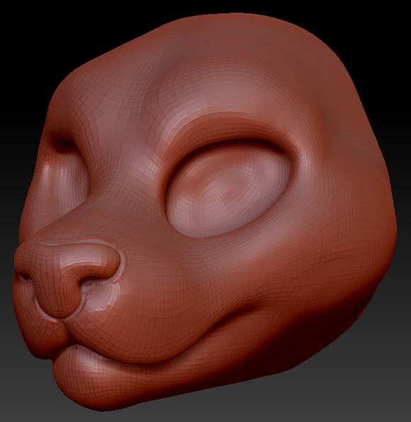 Feminine Big Cat Head Base Variant 1
