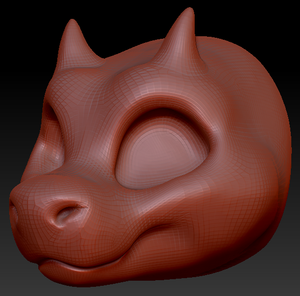 Gender Neutral Toony Round-nosed Dragon Head Base Complex Variant 1