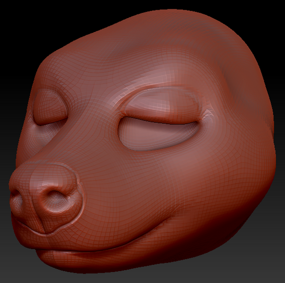 Gender Neutral Hyena Head Base Variant 1