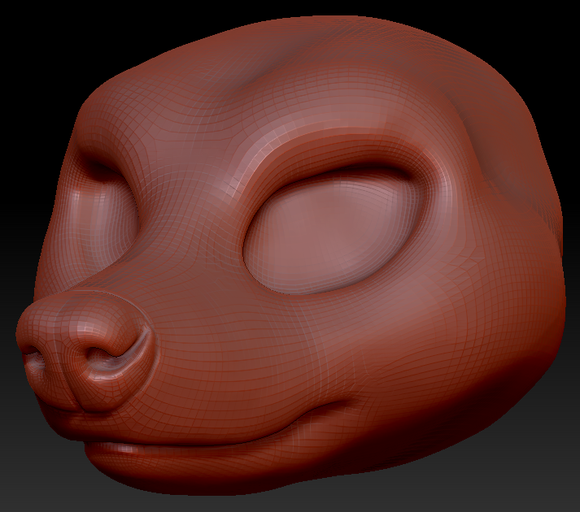 Feminine Raccoon Head Base Variant 1