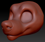 Gender Neutral Toony Large Canine Head Base Variant 3