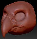 Gender Neutral Falcon Head Base