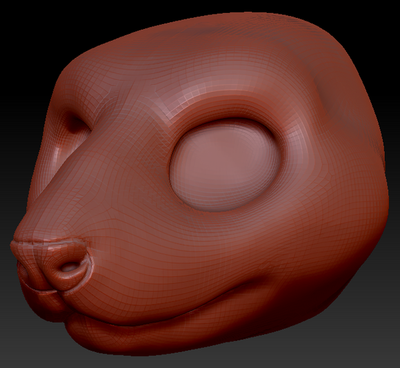 Gender Neutral Mouse Head Base