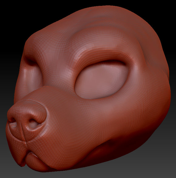 Feminine Canary Mastiff Head Base