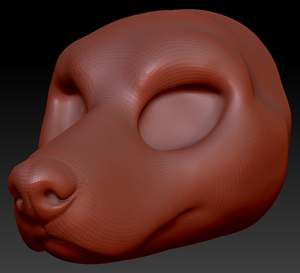 Feminine Doberman Head Base