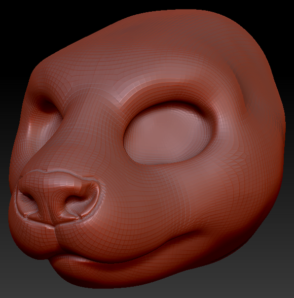 Gender Neutral Asian Small-clawed Otter Head Base