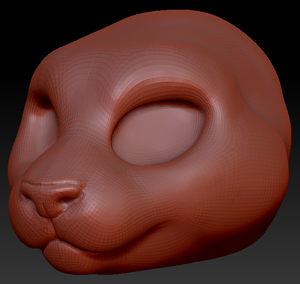 Feminine Somali Cat Head Base