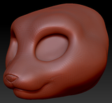 Kemono Somali Cat Head Base