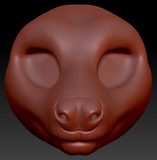 Feminine Fruit Bat Head Base
