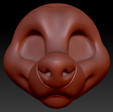 Gender Neutral Toony Large Canine Head Base Variant 5
