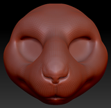 Feminine Guinea Pig Head Base