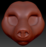 Feminine Black Bear Head Base