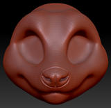 Feminine Toony Red Panda Head Base Variant 1