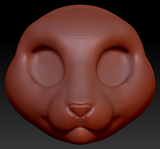 Kemono Oriental Shorthair Cat Head Base