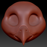 Gender Neutral Barn Owl Head Base