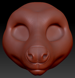 Gender Neutral Fruit Bat Head Base