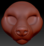 Feminine English Bull Terrier Head Base