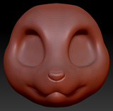 Kemono Small Canine Head Base Variant 3
