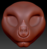 Feminine Leaf-nosed Bat Head Base