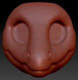 Kemono Dilophosaurus Head Base
