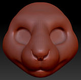 Gender Neutral Squirrel Head Base