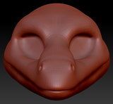 Feminine Anole Lizard Head Base