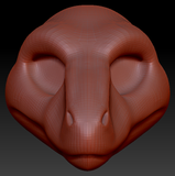 Feminine Utahraptor Head Base