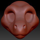Feminine Toony Raptor Head Base Variant 1
