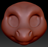 Kemono Round Nosed Dragon Head Base Variant 1
