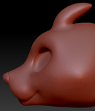 Kemono English Bull Terrier Head Base Complex Variant 1