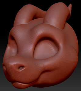 Gender Neutral Toony Round-nosed Dragon Head Base Complex Variant 3