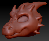 Gender Neutral Round-nosed Dragon Head Base Complex Variant 2