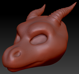 Gender Neutral Round-nosed Dragon Head Base Complex Variant 1