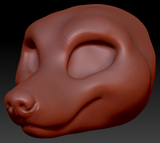 Feminine Fox Head Base Variant 1
