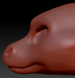 Feminine Round Nosed Dragon Head Base Variant 1