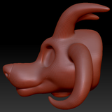 Gender Neutral Toony Large Canine Head Base Complex Variant 1