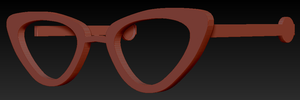 Cat Eye Glasses W/ Arms