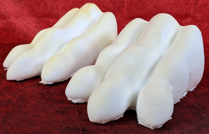 "6.4"" Wide Sergal/Reptile Foam Paw Set"