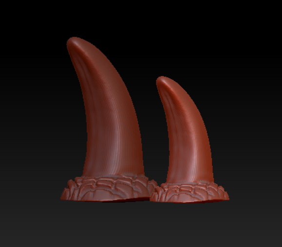 Opaque Canine Claws (Standard Colors)