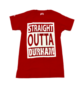 Straight Outta Durham Tee (Red)