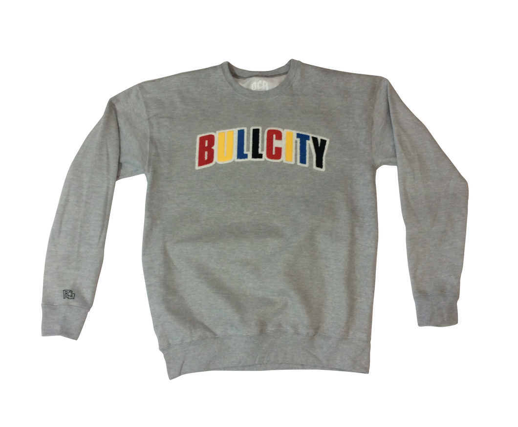 BULLCITY FLOCK Crew Neck (Sports Grey)