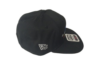 BullCity Scrible Flag Snapback (Black)