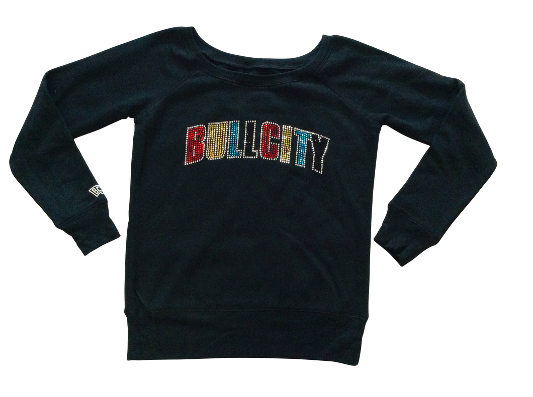 Women's Wide Neck Fleece ( BULLCITY)