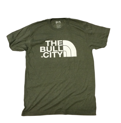 The Bull City Tee ( Heather Olive Green)